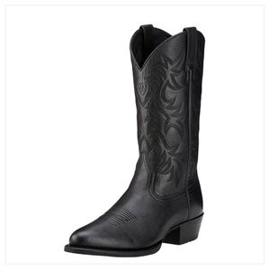 Ariat Black Heritage Boots Cowboy Black Mens 10EE